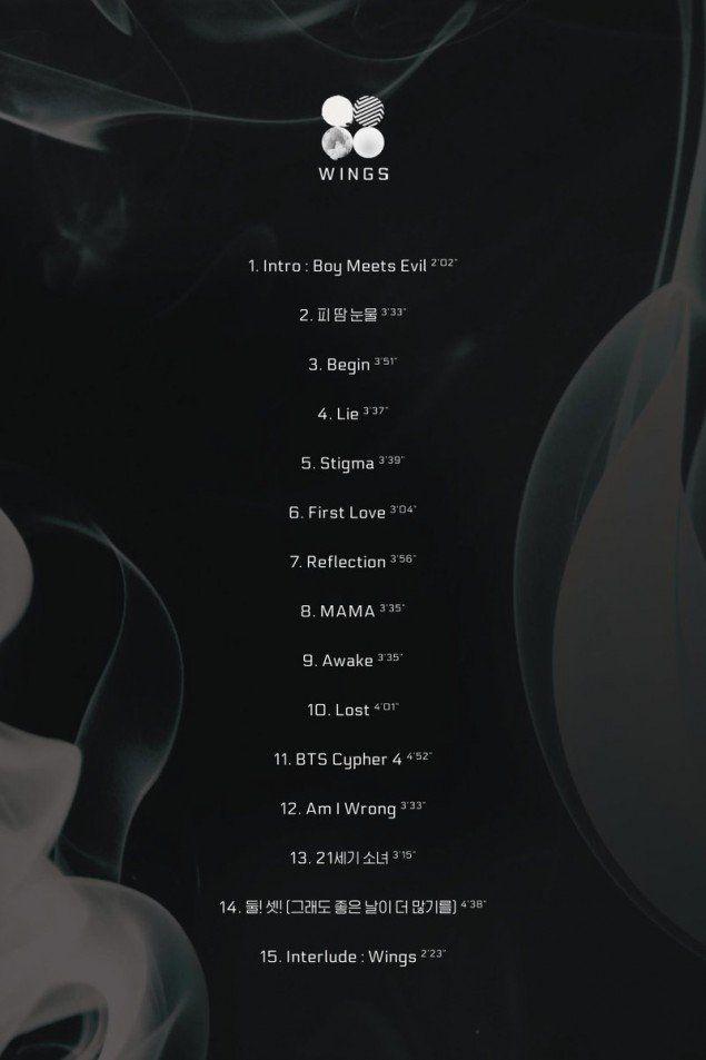 BTS drops track list for 'WINGS' comeback | allkpop.com