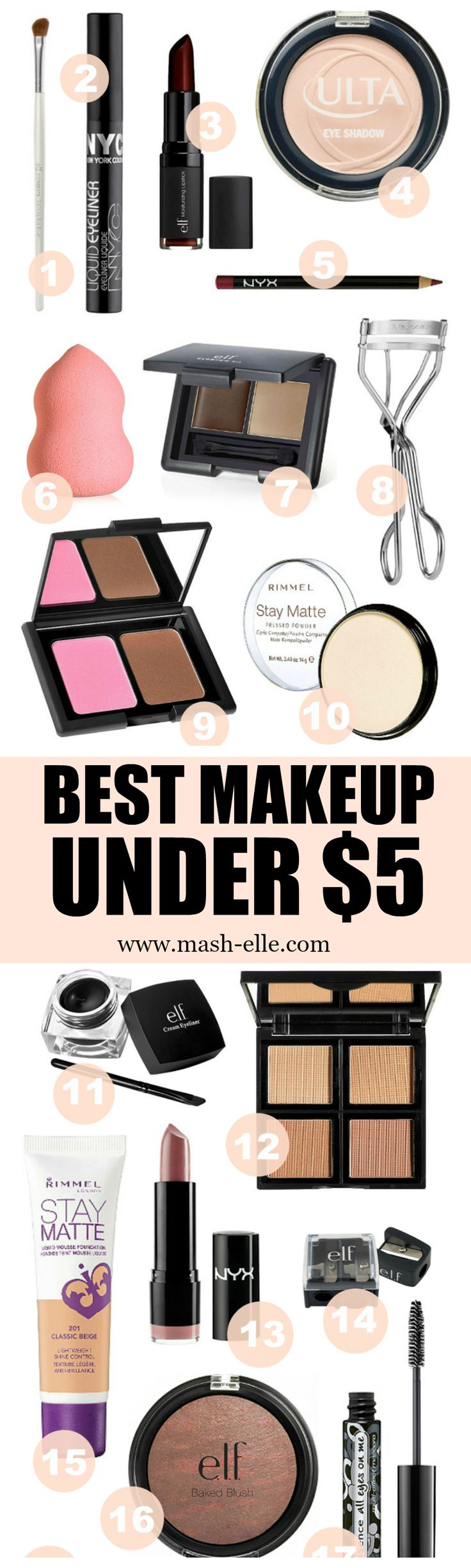 Finally a roundup of the best makeup products under $5! Every single item on…