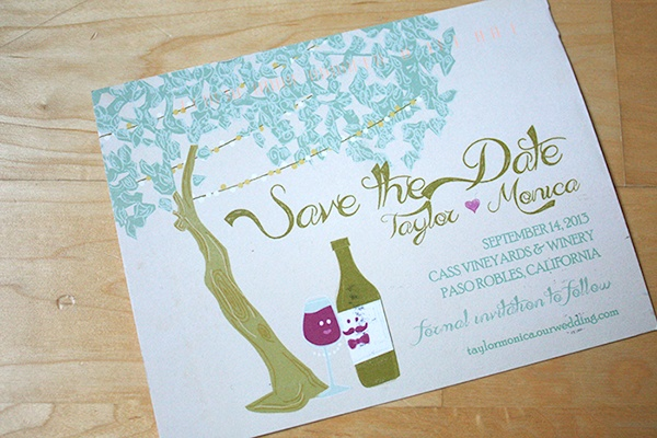 Save The Date - Winery Wedding