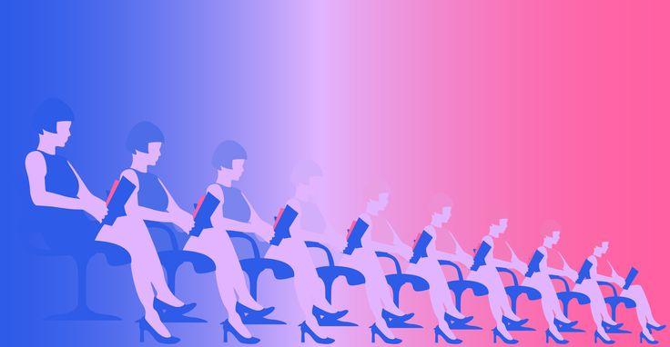 🎛 WE.ARE.THE.ROBOTS 🎛  || Designed by Nefeli Tsalta || #repeat #wearetherobots #gradient #waitingroom #spaceage #mod #legs #neon #colors #60s #futura #retro #robots #repetition #revision #illustration #digitalillustration #minimalillustration #graphicdesign