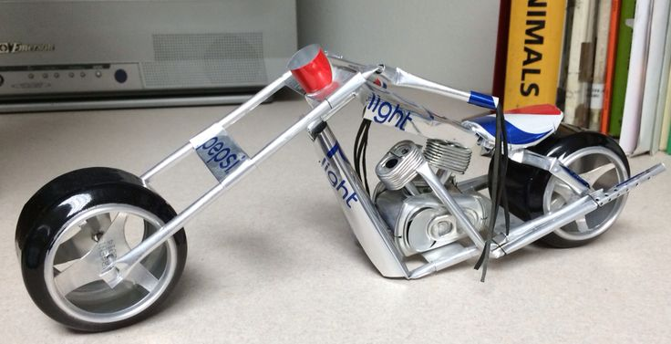 Soda can motorcycle