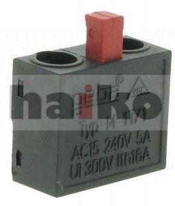 GEBA - M-1T/1O (NC) - micro switch, przełącznik (czerwony)