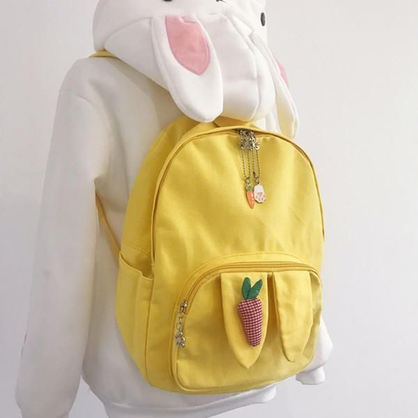 And Canvas Carrot 2019Bag Yv42015 In Backpack Cute hQdxrCotsB