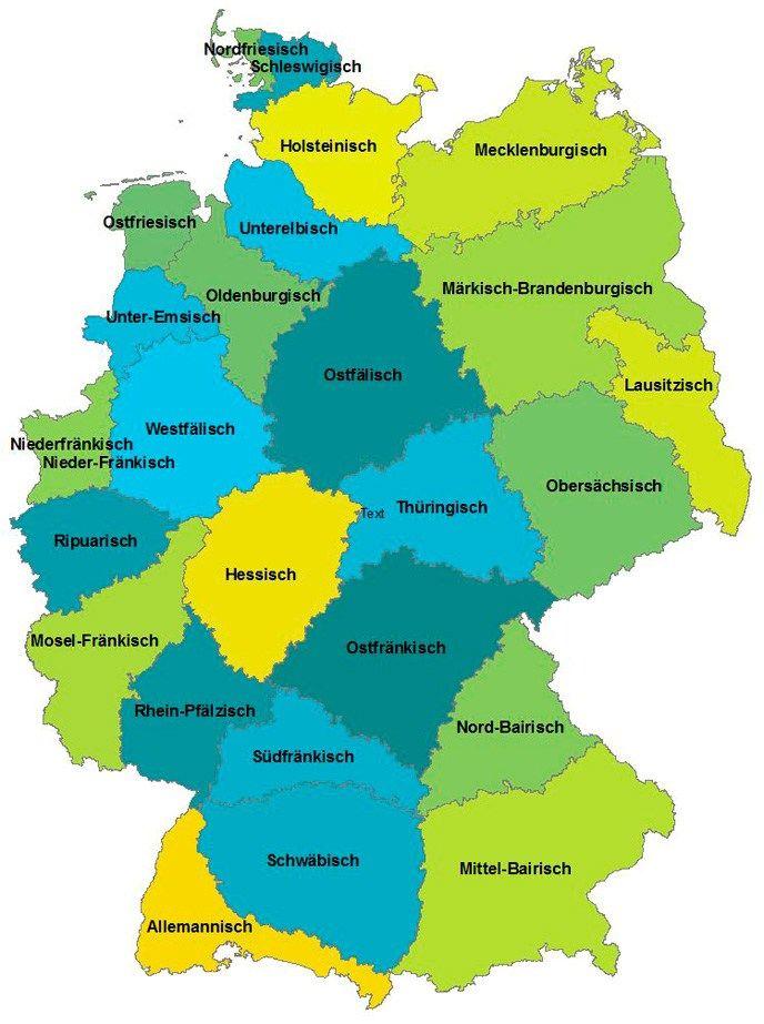 dialekte in deutschland karte Hochdeutsch und Dialekte in Deutschland   Deutsche dialekte