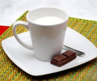 Submarino - Argentine Hot Chocolate that consists of melting a bar of chocolate in a steaming glass of milk