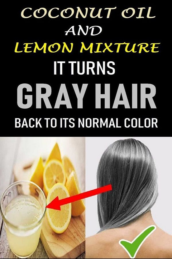 Coconut Oil And Lemon Juice For Grey Hair Get Natural Color The