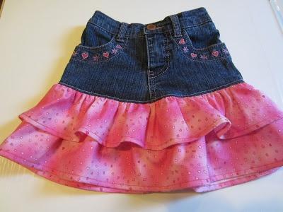 Ruffled Jeans Skirt - link for tutorial