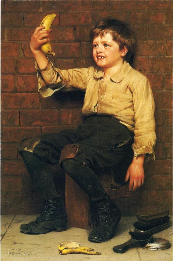 Banana Boy Paintings | John George Brown paintings