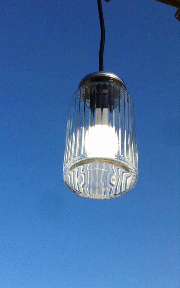 25 best ideas about lampada barattolo su pinterest - Cavo con lampadine da esterno ...
