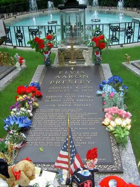 Elvis Presley, they should really fix the spelling of his middle name on his grave:/
