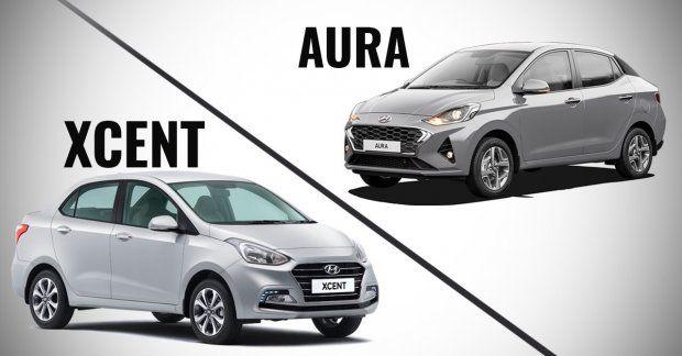 Hyundai Aura Vs Hyundai Xcent Old Vs New In 2020 Hyundai Aura Sedan