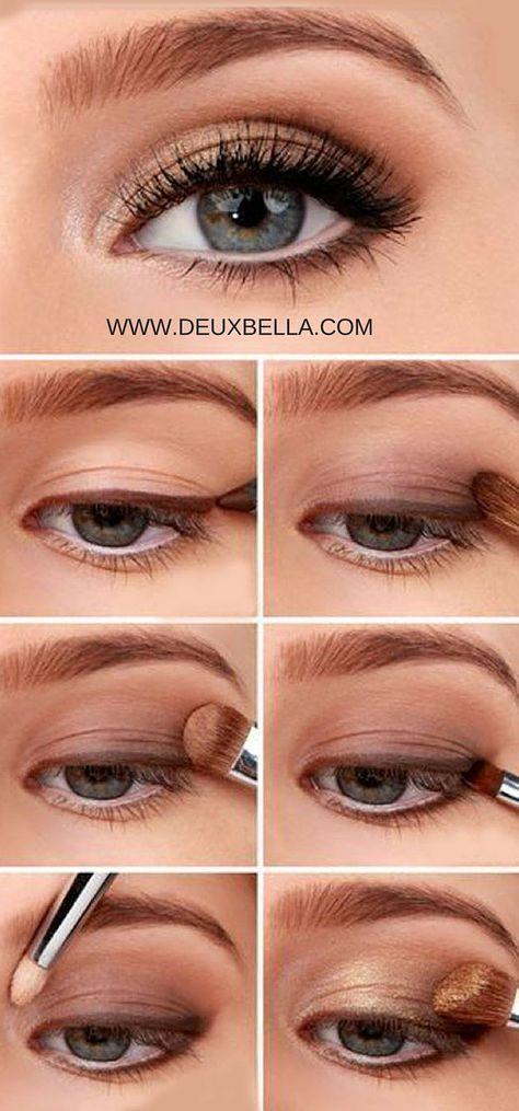 Un simple maquillaje natural para los ojos que cualquiera puede hacer. Paso a paso las instrucciones de maquillaje de ojos. Esta pagina