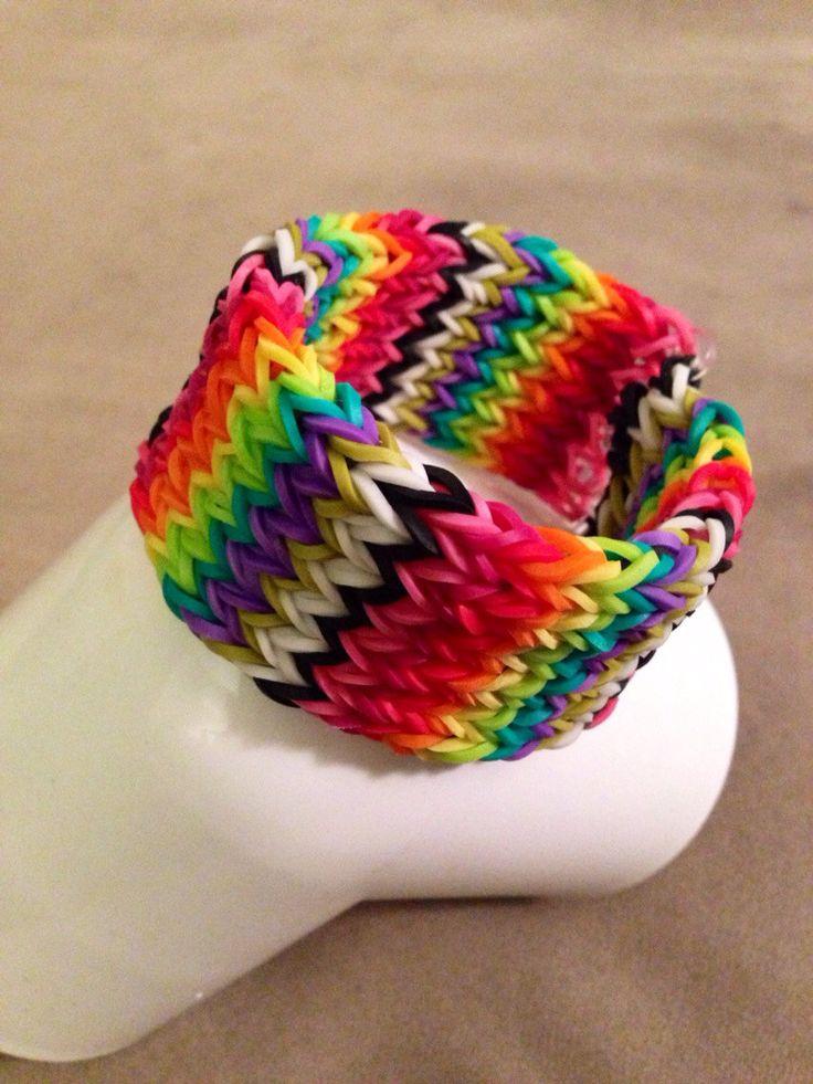 Rainbow+loom+6+row+Cross+Fishtail+by+LOTSOLOOM+on+Etsy,+$5.00