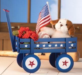 97758 Americana Wagon Patriotic Garden Planter By Sensationaltreasures Home Decor Catalogspatriotic