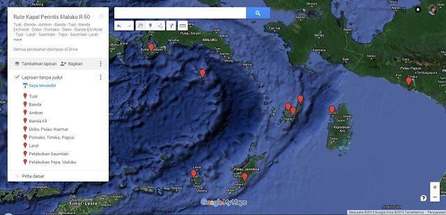 Rute Kapal Perintis Maluku Jalur R-50