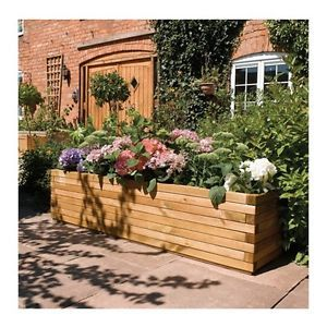 Wooden Garden Planter Large Flowers Plants Herbs Patio Vegetables Wood  Planters