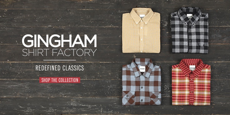 Cool web banner design, simple yet powerful, bensherman clothing I have always been a fan of Gingham Shirt Factory clothing..    Make sure to visit www.randazdesign to view cool web banner designs!