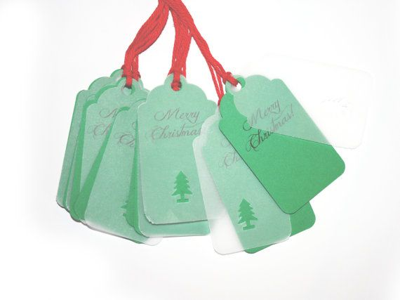 10 Double Christmas Tags | Christmas Tree Tag | Kraft Christmas Tags | Christmas Packaging | Name Labels | Christmas label