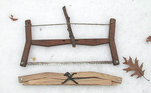 Traditional folding wooden buck saw - i plan to make one like this.  Much cooler than my trusty old aluminum sawvivor.
