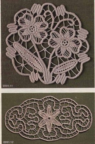 Romanian Point Lace crochet from the September 1991 issue of Anna Burda magazine