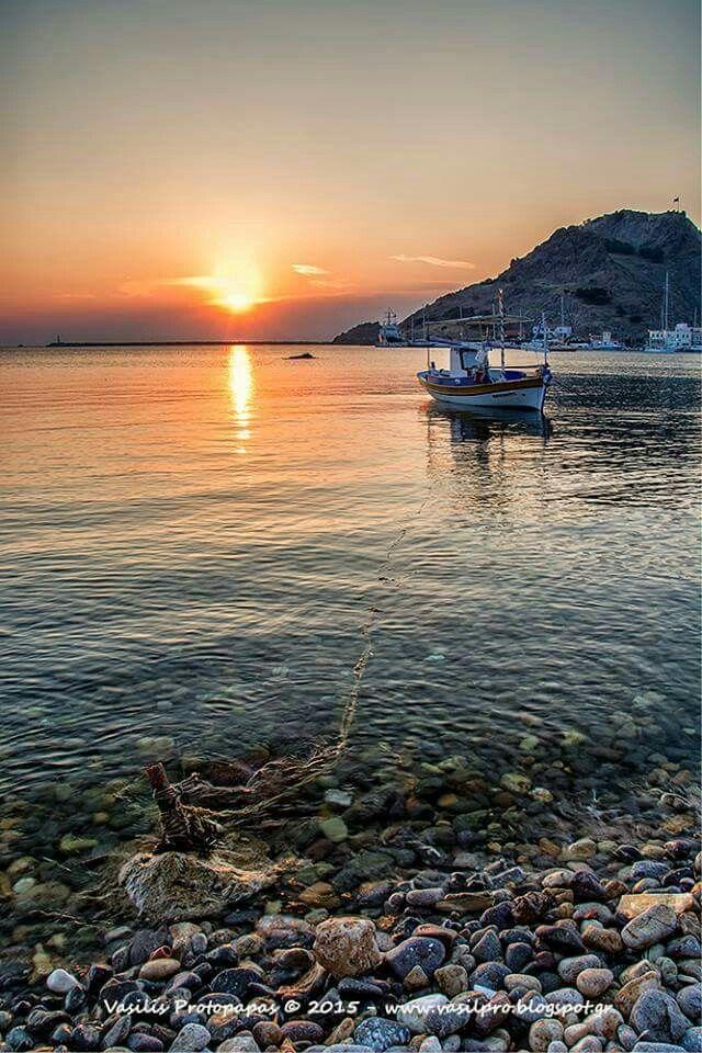 Sunset at Lemnos Island Greece