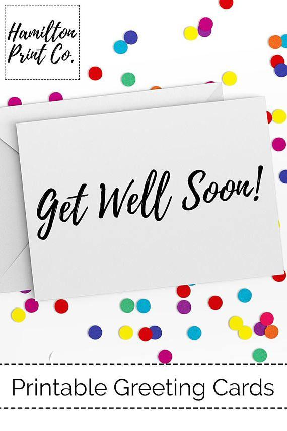 Get Well Soon Card Instant Digital Download Printable US
