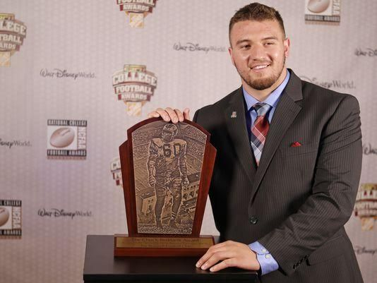 Spike's Trophies Limited created the Chuck Bednarik Award featured last week on #ESPN's College Football Awards show and won by Temple University's linebacker Tyler Matakevich and presented by our customer The Maxwell Football Club.