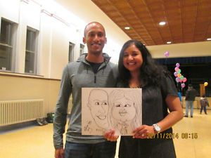 Caricature artist available.