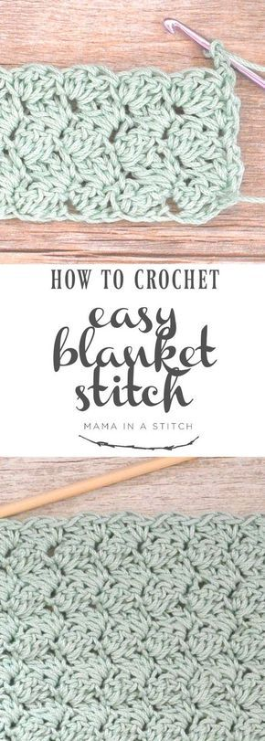How To Crochet the Blanket Stitch via @MamaInAStitch This is a super easy crochet stitch and there's a full, free pattern and video tutorial!