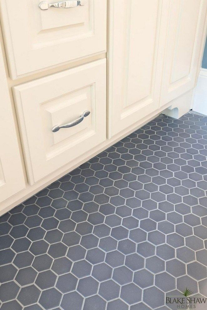 3 Hexagon Tile Bathroom Floor Grey Master Bath 18 Decorinspira Com Grey Bathroom Floor Hexagon Tile Bathroom Floor Hexagon Tile Bathroom
