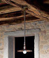 Lampadario artigianale a sospensione ottone anticato art. AB-611.11