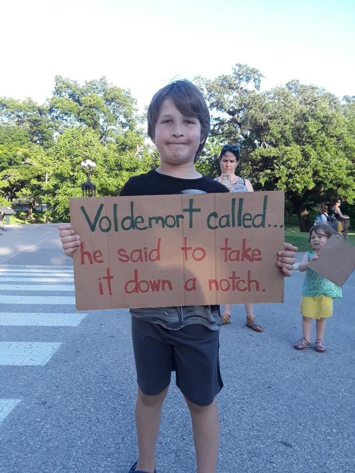 Voldemort Called He Said To Take It Down A Notch Families Belong Together Protest Signs Protest Posters