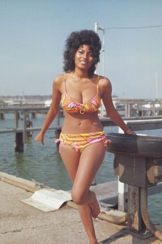This is what bathing suits looked like the year you were born. A look back at the most popular swimsuits from the past 100 years: Pam Grier in a tropical bikini, 1971
