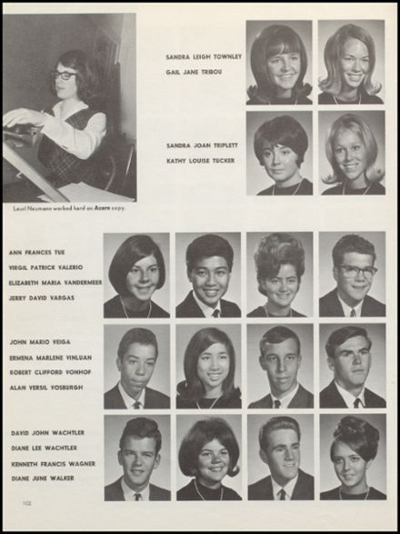1967 Alameda High School Yearbook via Classmates.com