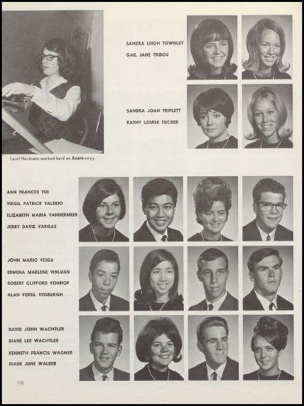 1967 Alameda High School Yearbook via Classmates.com
