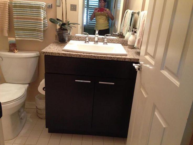 Bathroom Vanity In Terra Di Siena With A Kohler Archer Sink Wide Spread In  White