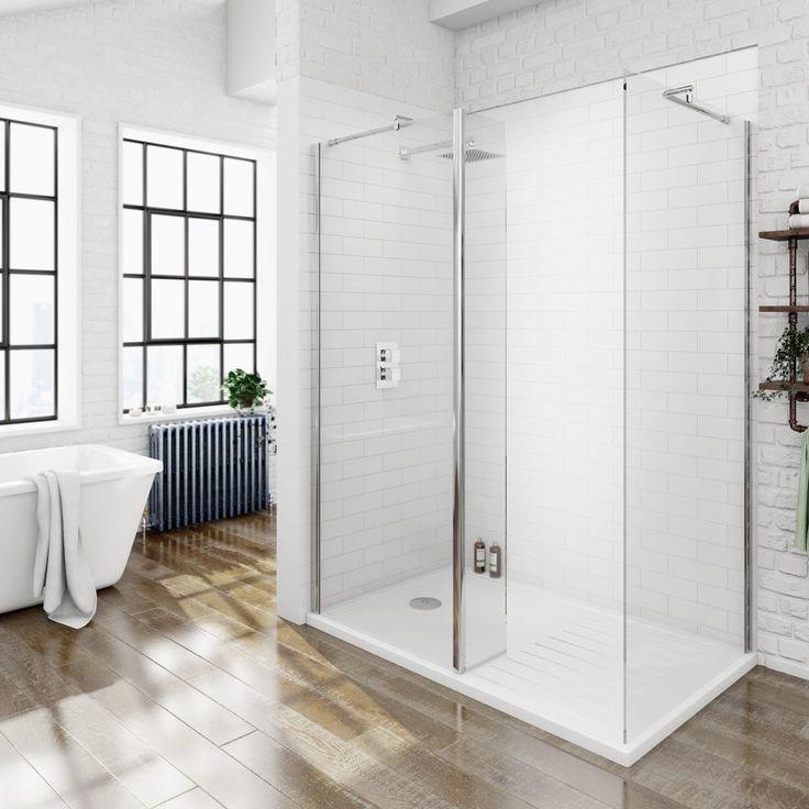 8mm Walk In Shower Enclosure Pack 1600 x 800 with Shower Tray    VictoriaPlum comBest 20  Walk in shower enclosures ideas on Pinterest   Bathroom  . Large Corner Shower Units. Home Design Ideas