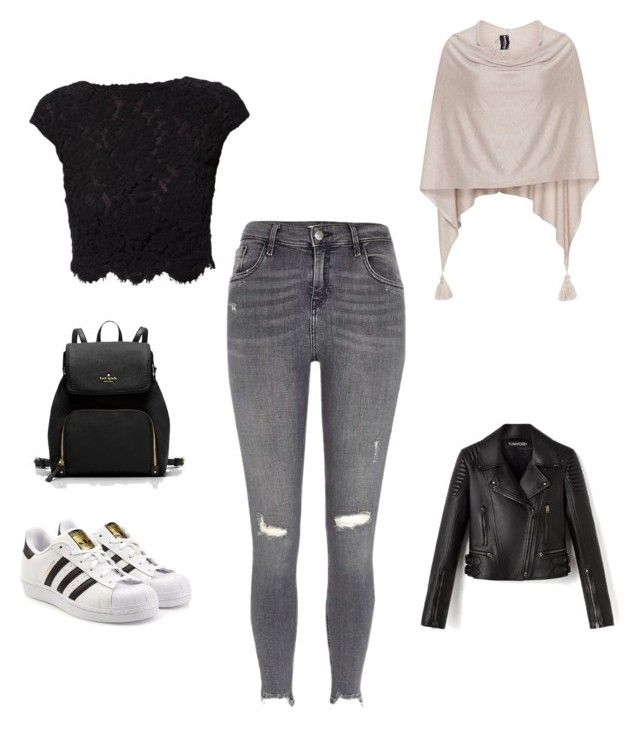 """Untitled #203"" by rekac on Polyvore featuring River Island, WtR, Samoon and adidas Originals"