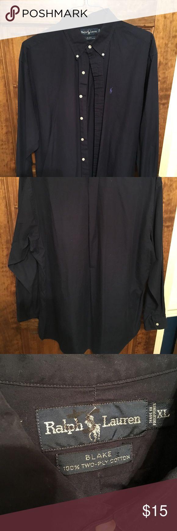 Long sleeve polo button down Navy long sleeve polo button down long sleeve shirt. Size XL Polo by Ralph Lauren Shirts Casual Button Down Shirts
