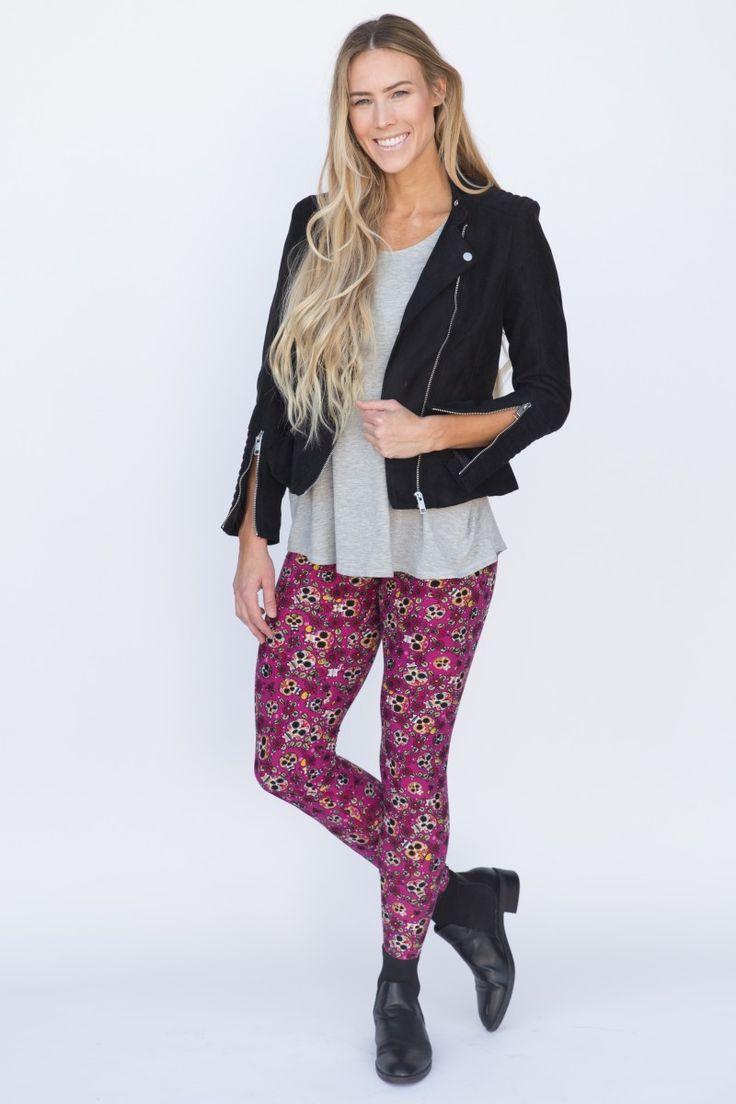 Agnes & Dora - Leggings Jaw Pop Sugar Skull Leggings outfit www.shopmyprettythings.com #ootd #agnesanddora #agnesanddorabyayano #outfit #whoops #stripes #leggings #legginglife #leggingsarepants #legginglove #legginglife #leggingsfordays #leggingsforlife #pixiepants #floral #pink #shopping #mystyle #monday #comfy #thatsdarling #onlineshopping #empowersocial #sugarskulls #sugarskull #skull