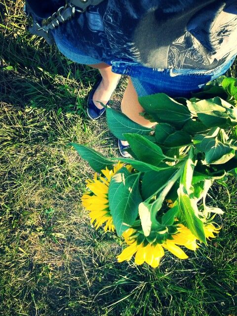 Sun, flowers, happines...