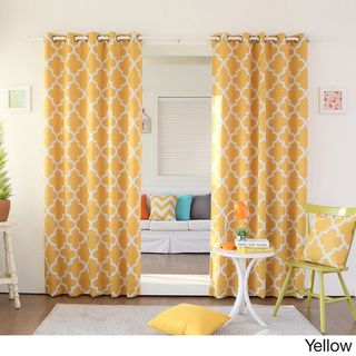 Moroccan Tile Room Darkening Grommet Top 84 inch Curtain Panel Pair   Overstock.com Shopping - Great Deals on Curtains