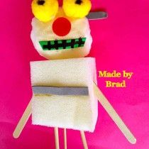 Super puppet made by Brad today at Lysterfield Primary School in one of my puppet making workshops