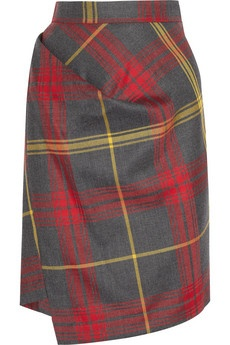 Vivienne Westwood Anglomania | New Accident checked wool skirt | NET-A-PORTER.COM
