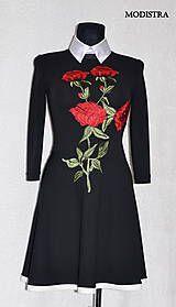 Šaty - Jarné šaty s aplikáciou - 8069228_