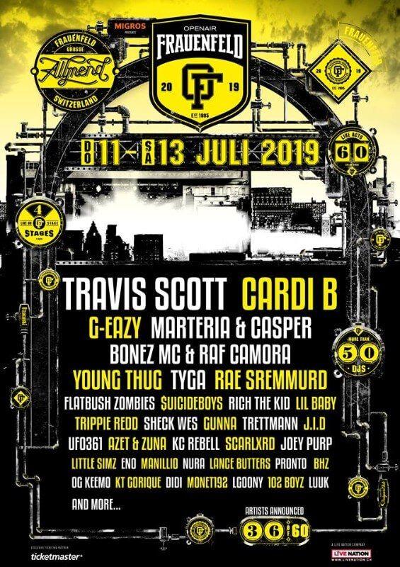 Openair Frauenfeld 2019 Hip Hop Festival European Festivals Young Thug
