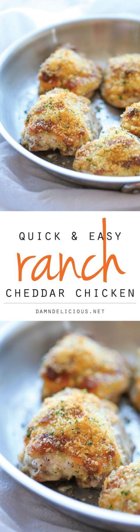 Quick & Easy Ranch Cheddar Chicken Recipe