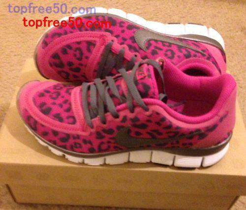 Half off Nike Free 5.0 Hot Sale,Womens Nike Free 5 0 V4 Leopard Pink Size 6 0