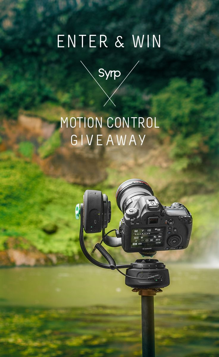 Enter to win a Syrp Pan Tilt Kit, a Genie Mini or a Magic Carpet Slider for film, timelapse, and photography - 3 winners - Gain more entries with social sharing too!