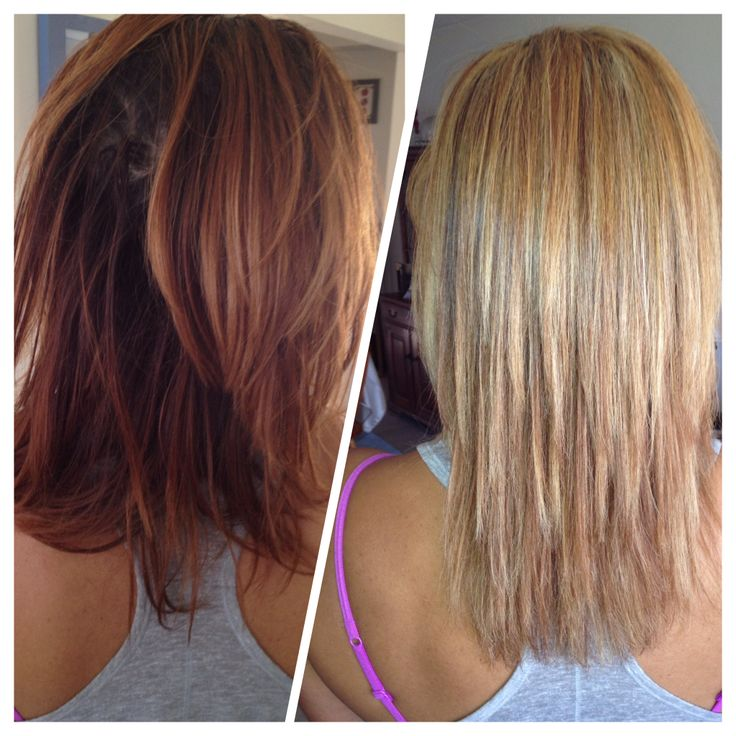 Before And After Highlights Hair Pinterest